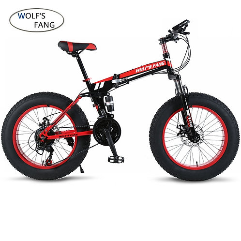 Wolf's Fang Bicycle Mountain Bike 21 Speed Fat Road Snow Bikes 20*4.0