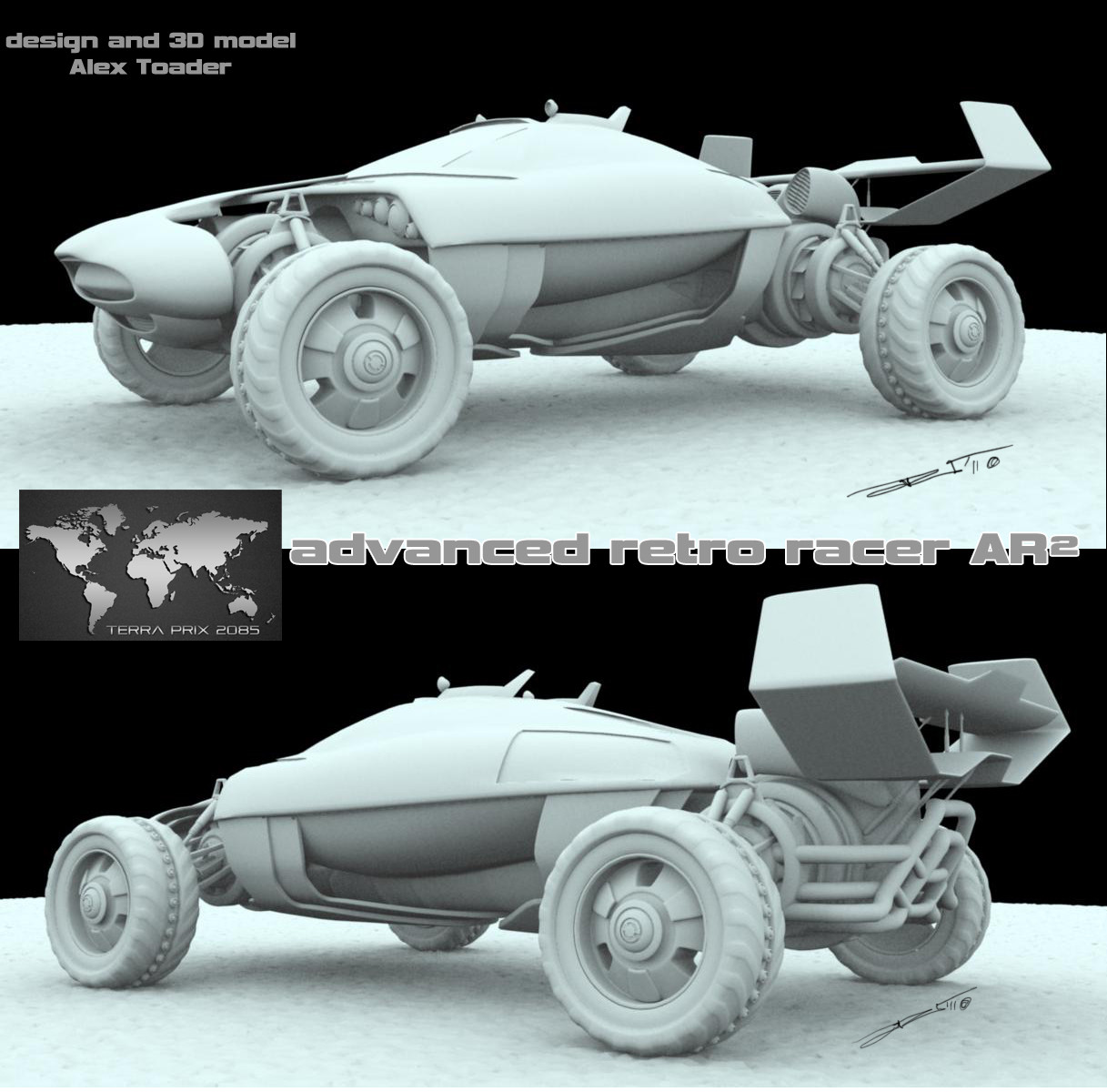 E E E  Rally Car 3D model