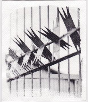 Liquid light print on Fabriano Art paper from 5x4 colour neg