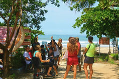 Students activities at the beach in Samara, Guancaste, Costa Rica