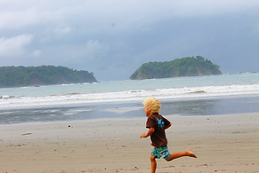Preschool on the beach at school in Samara, Guanacaste, Costa Rica