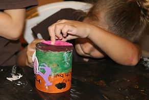 Arts and crafts with kindergarten at school in Samara, Guanacaste, Costa Rica