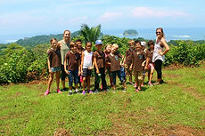 Student field trip and hiking in Samara, Guanacaste, Costa Rica