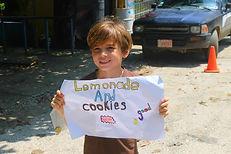 Student lemonade stand in Samara, Guanacaste, Costa Rica