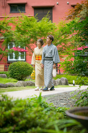 湯河原美術館の日本庭園