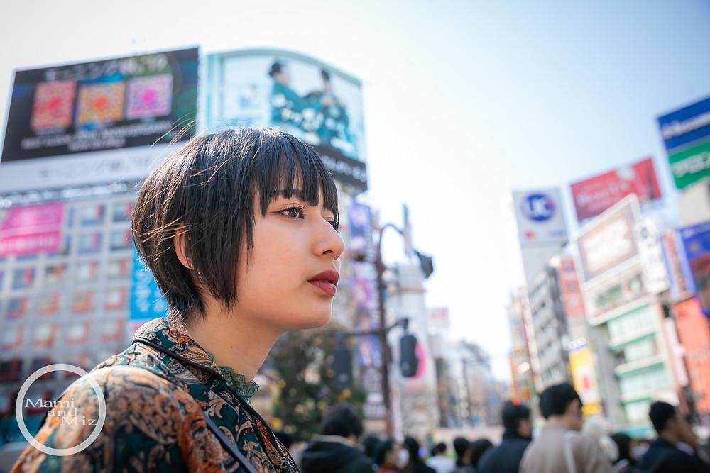 beautiful girl portrait in shibuya crossing intersection 2