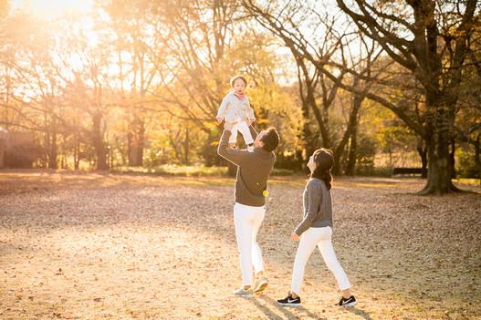 砧公園の家族写真