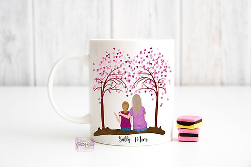 Mother & Daughter - Like Mother Like Daughter - Personalized Mug