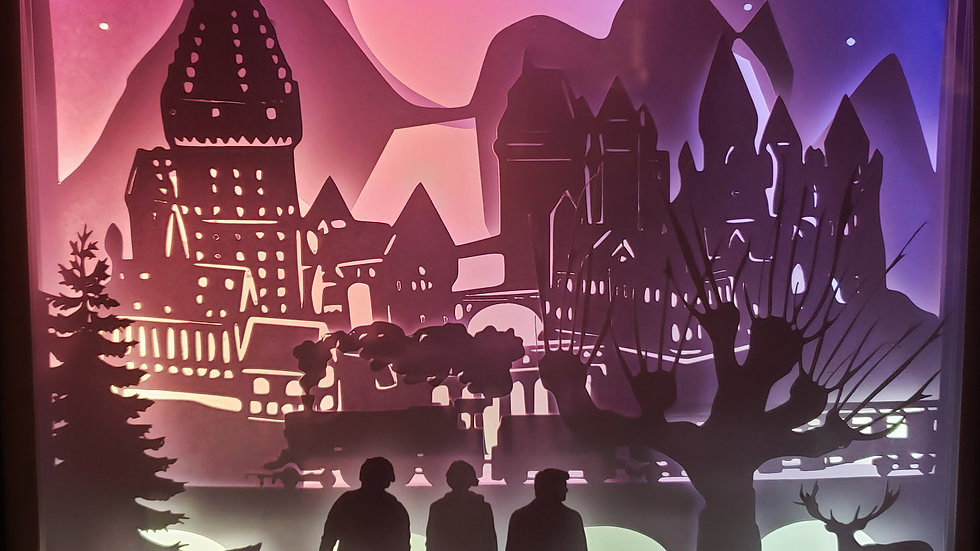 Movie Themed Shadow Box Wall Art