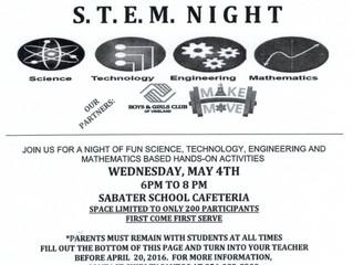 Family STEM Night at Sabater School