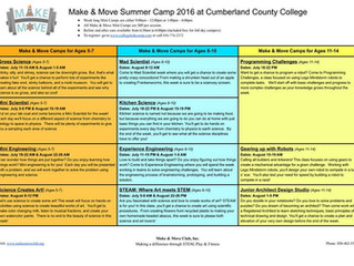 Summer College Camp Flyers