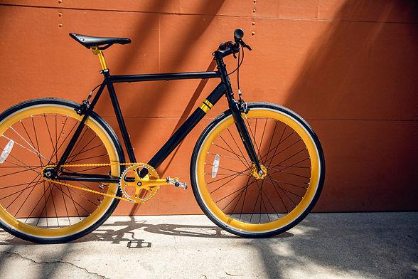 mit dem Fahrrad durch die Stadt