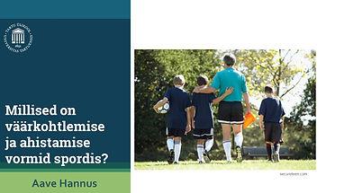 Millised on väärkohtlemise vormid spordis?