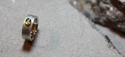 Silberring mit Turmalin in Gold