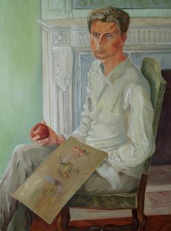 Pose du jeune peintre