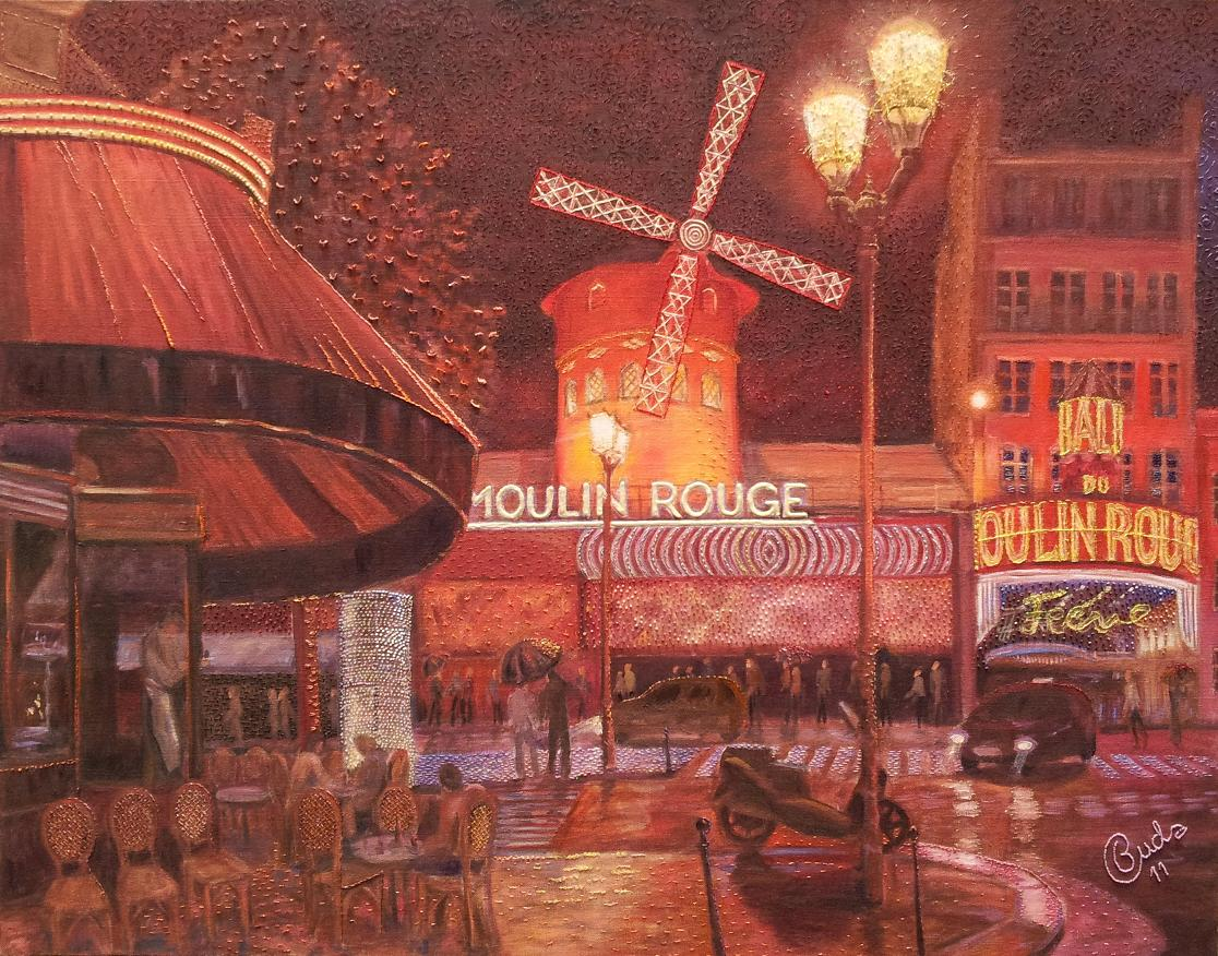 Devant le Moulin Rouge