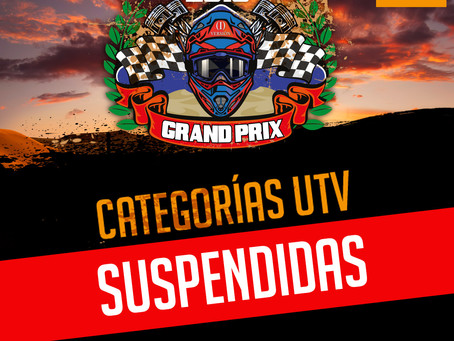 Categorias UTV suspendidas