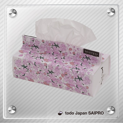 綿布ティッシュボックスカバーTBox-019 さくらプリント