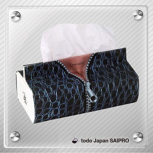 綿布ティッシュボックスカバー TBox-003:クロコダイルパターン
