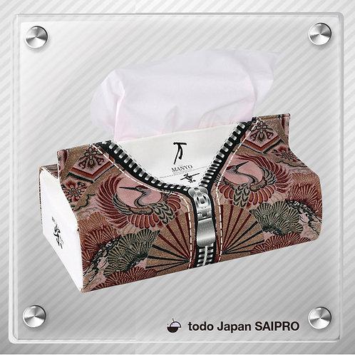 綿布ティッシュボックスカバー TBox-004:日本模様パターン