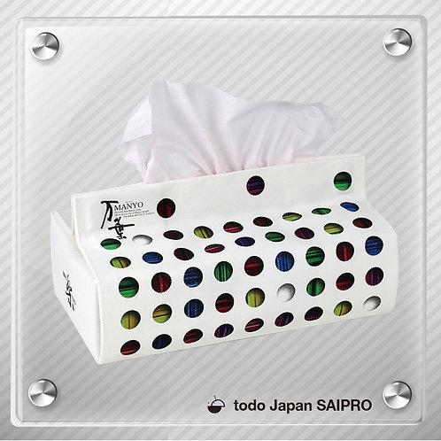 綿布ティッシュボックスカバー TBox-008:万葉カラー3(丸)