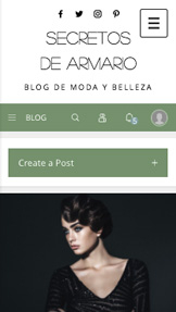 Blogs y Foros plantillas web – Blog de moda