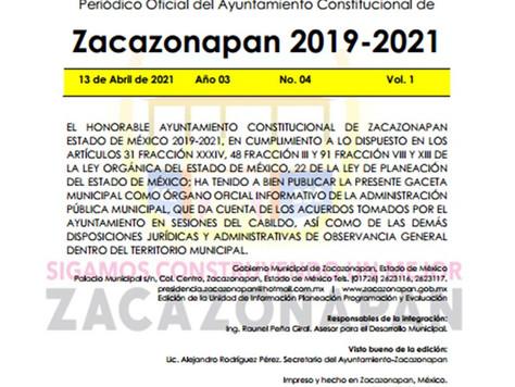 Gaceta No. 04 Dictamen de Asignación del Comité de PC