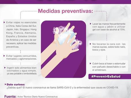 Medidas preventivas para el corona virus