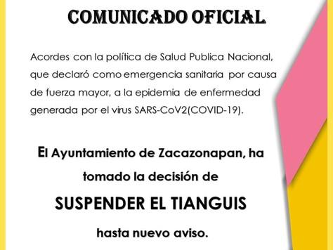 SUSPENSIÓN DE TIANGUIS