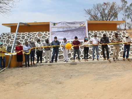 Entrega de Deposito de Agua en Cabecera Municipal