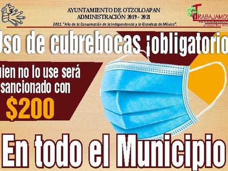 USO DE CUBREOCAS OBLIGATORIO