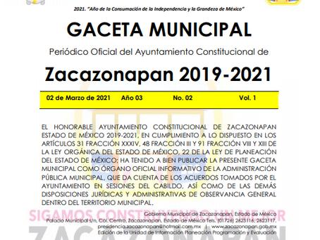 Gaceta No. 02 Convocatoria Publica para la Integración del COMITE