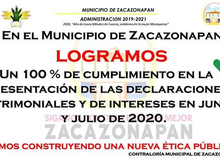 PRESENTACIÓN DE LAS DECLARACIONES PATRIMONIALES Y DE INTERESES EN JUNIO Y JULIO DE 2020