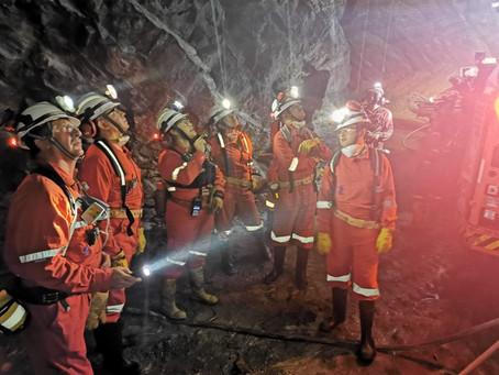 Visita a la mina Tizapa