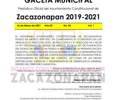 Gaceta No. 03 Publicación de Candidatos para Entrevista SMAC