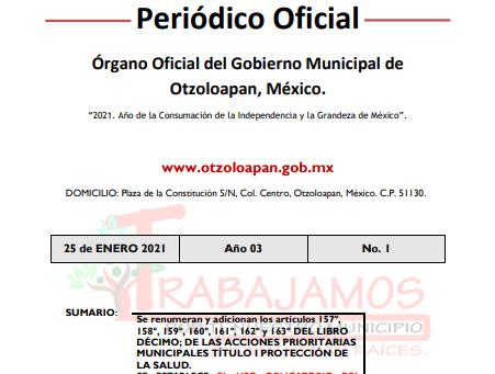Gaceta 1 2021 uso obligatorio del cubrebocas