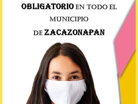 USO OBLIGATORIO DE CUBREBOCAS.