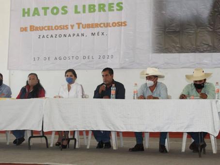 ENTREGA DE CERTIFICADOS DE HATOS LIBRES DE BRUCELOSIS Y TUBERCULOSIS.