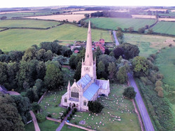 Birds eye view of St Mary's