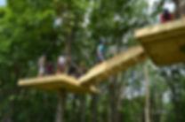 Suspended bridge at Buffalo Mountain Ziplines