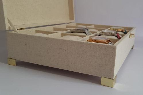 Caixa Forrada com tecido para relógio
