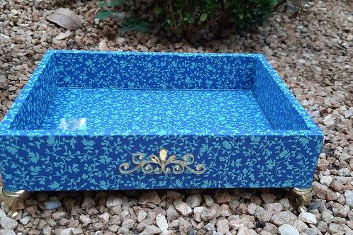 Bandeja Azul Floral