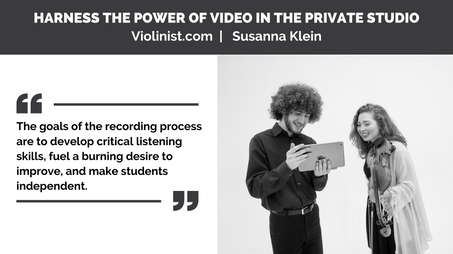 Video in Private Lessons