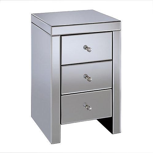 Seville Bedside 3 Drawer Cabinet