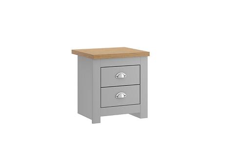 Winchester 2 Drawer Bedside Cabinet