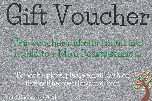 Gift Voucher for Mini Beast session 1