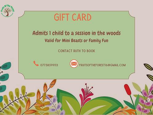 Gift Voucher for Child
