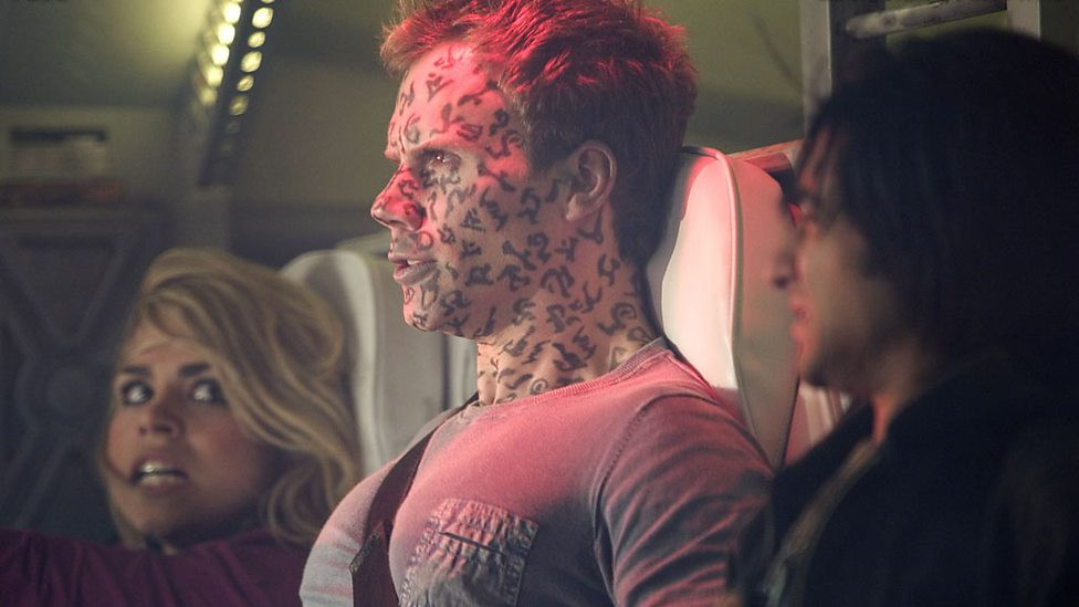 Billie Piper, Will Thorp and Ronny Jhutti in Doctor Who
