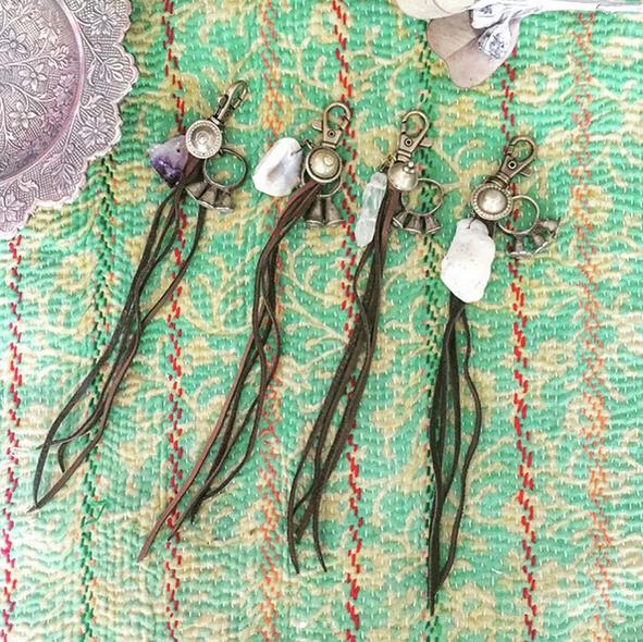vintage Afghanistan ring Key charm