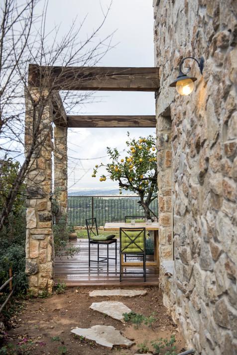 אדריכלית אלונה נבו סידי בית אבן חוץ פנים פתוח אויר